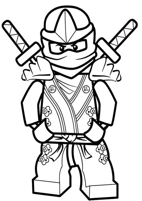 free ninja jay coloring pages