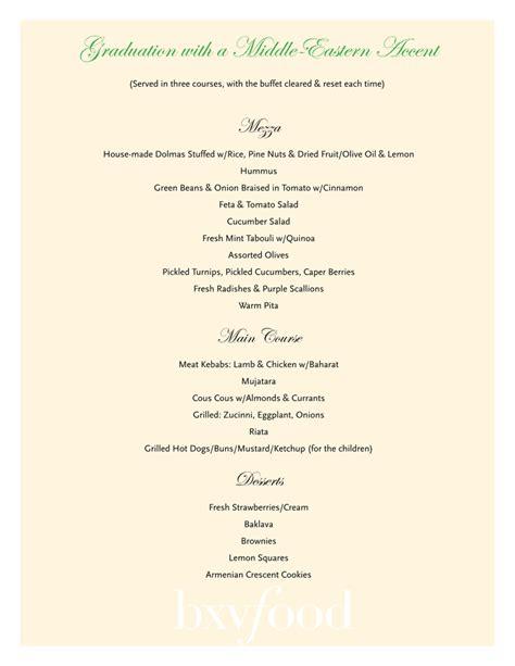 buffet sle menus bxvfood