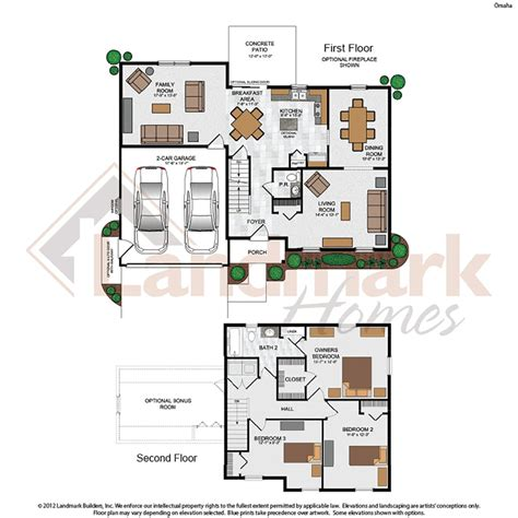 omaha home plan by landmark homes in liberty station