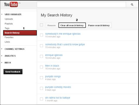 Search History How To Delete History And Search History Geeker Magazine
