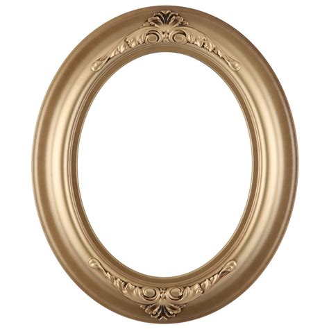 Oval Frame in Desert Gold Finish   Antique Gold Picture Frames with Ornate Decoration