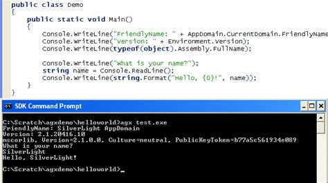 console application testdriven net by cansdale silverlight console