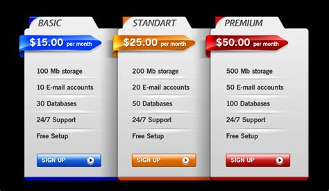 price template design 35 best pricing table psd templates free
