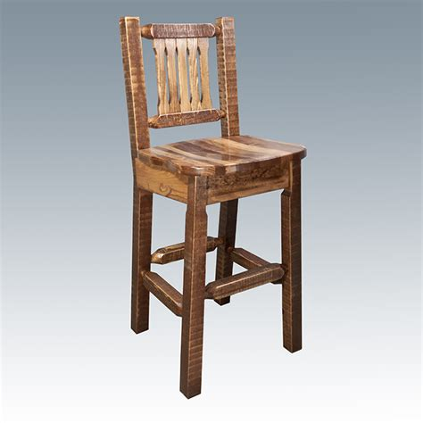Pine Bar Stools With Backs amish quot homestead quot pine bar stool with back swivel