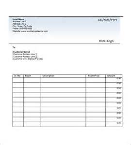 accommodation invoice template hotel invoice templates 8 free word excel pdf format