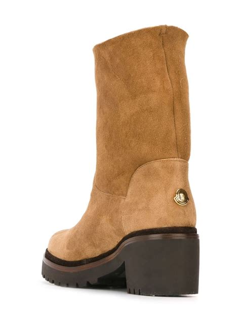 moncler boots moncler cassandre boots in brown lyst