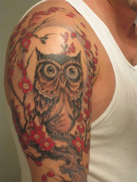 girl owl tattoo designs owl on shoulder