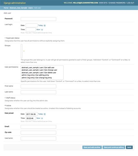 django creating user object options objects customizing the django user model