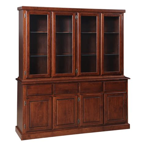 Contemporary 4 Door Buffet and Hutch   Home Envy Furnishings: Solid Wood Furniture Store