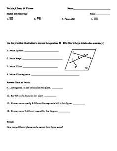 Undefined Terms In Geometry Worksheet by Lines And Planes Worksheets Points Lines And Planes