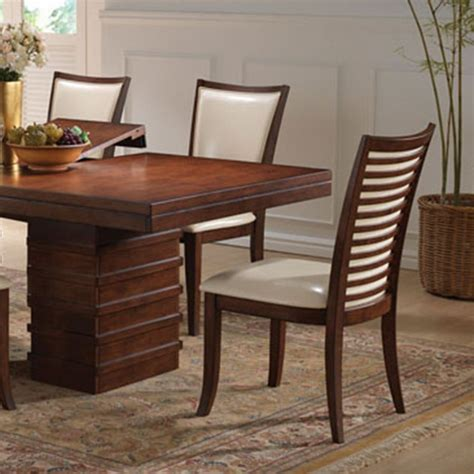 Cherry Finish Dining Table Dreamfurniture Pacifica Cherry Finish Dining Table Set
