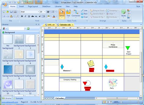 visio calendar template visio compatible software