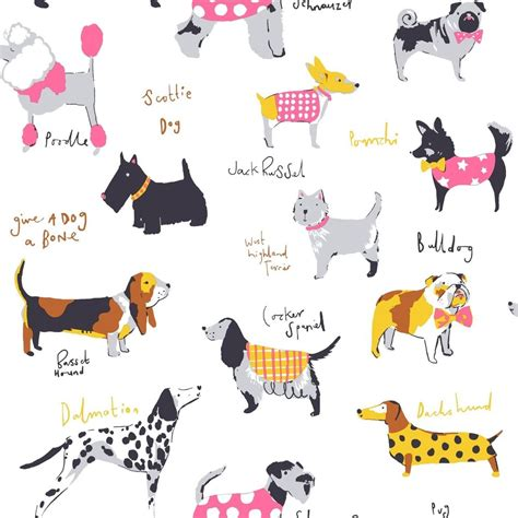 it s a dogs its a dogs wallpaper in multicolour by coloroll m1037 ebay