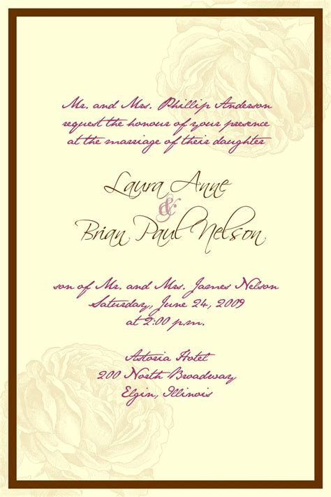 Wedding Invitations Wording In by Catholic Wedding Invitation Wording Theruntime