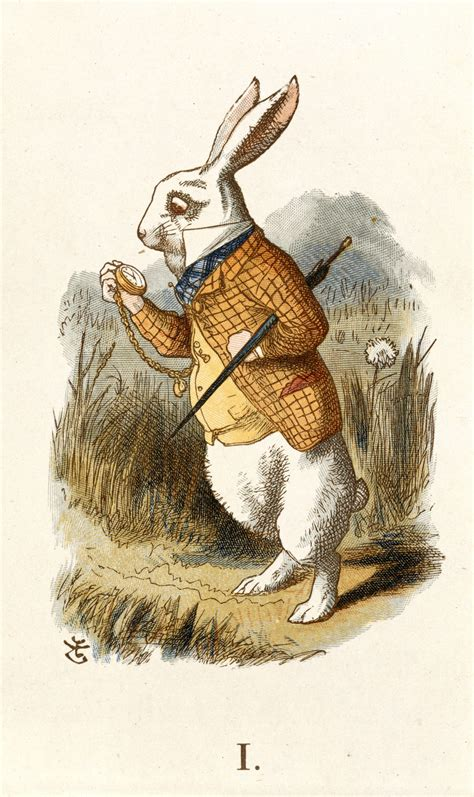 Nel Images by File The White Rabbit Tenniel The Nursery 1890