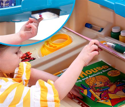 Step 2 Deluxe Art Master Desk Cool Toys For Kids Gift Ideas Chainsaw Journal