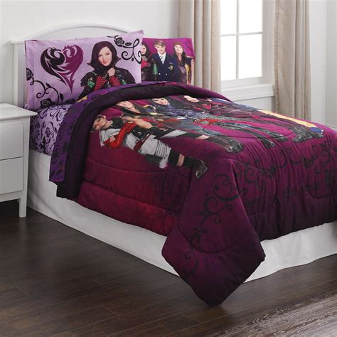 disney bedding disney descendants reversible comforter