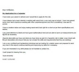 Carpenter Apprentice Cover Letter by Carpenter Cover Letter Exle Icover Org Uk