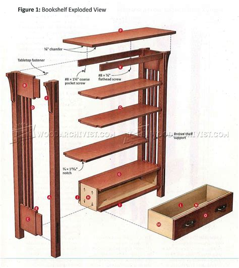 arts and crafts bookshelves arts and crafts bookcase plans woodarchivist
