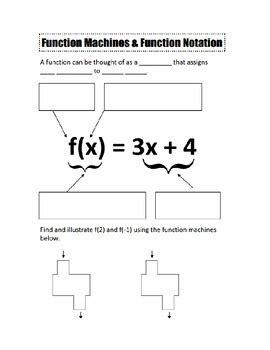 Algebra 1 Function Notation Worksheet Answers by Function Notation Notes And Worksheet By Camfan54 Tpt