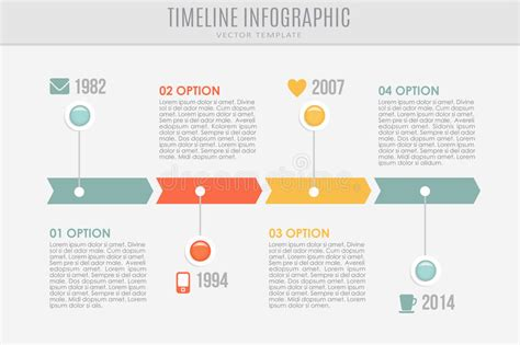timeline report template timeline report template with buttons and icons stock