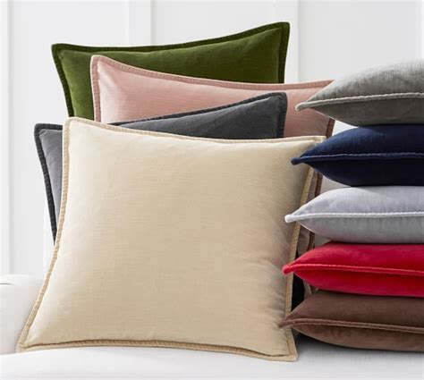 Covers Pottery Barn by Washed Velvet Pillow Cover Pottery Barn