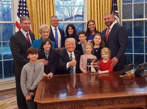 trump oval office redecoration president dwayne elizondo the mcmahon family visit president trump in the oval