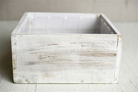White Square Planter Box by White Wood Square Planter Box 7x7