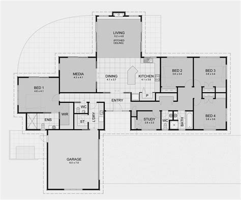 open floor plan house designs david reid homes lifestyle 7 specifications house plans images floor plans 200m2 250m2