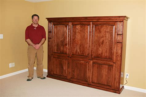horizontal murphy bed queen gathering wood horizontal custom queen wall bed