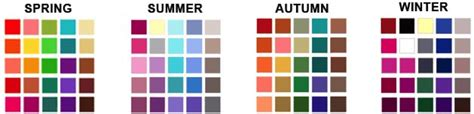 season colors seasonal colour analysis which colours suit you best