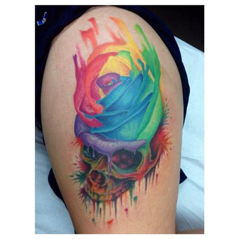 rainbow rose tattoo 11 amazing rainbow tattoos