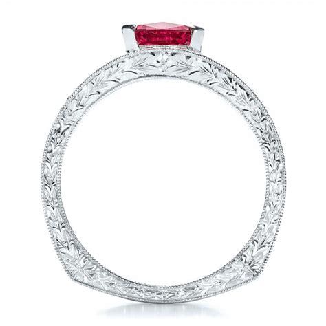 custom pink sapphire engagement ring 100113