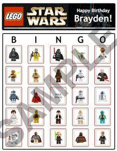 printable lego star wars bingo cards lego star wars party ideas on pinterest 25 pins