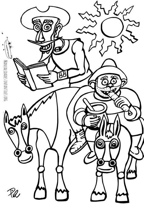 dibujos infantiles para colorear don quijote quijote y sancho para colorear manualidades infantiles