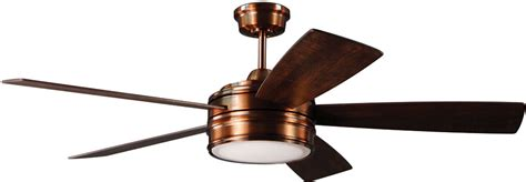 polished copper ceiling fan craftmade brx52bcp5 braxton brushed copper led 52