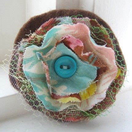 shabby fabric flower crafty pinterest flower fabrics and buttons