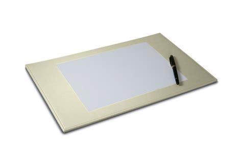 Decorative Desk Pad 44 X 27 Cm Off White Smooth Leather White Desk Pad