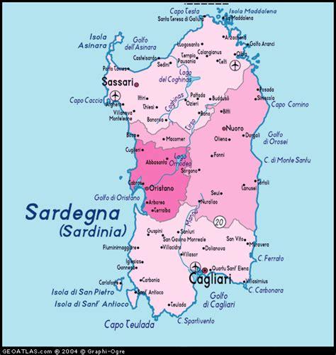 sardinia map map of sardegna map sardegna sardinia italy italy atlas