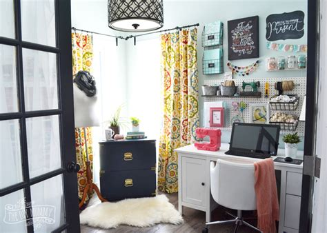 home office diy my colourful boho craft room office tour video the diy
