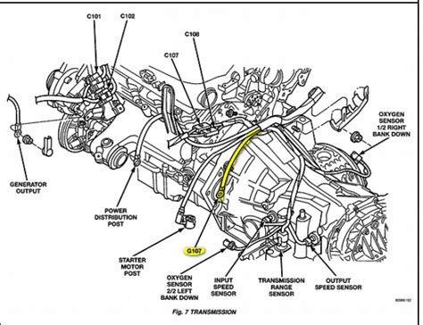 dodge intrepid engine diagram automotive parts diagram images