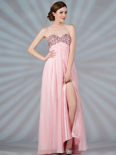 Baby Avail Pink Skirt baby pink chiffon evening dress sung boutique l a
