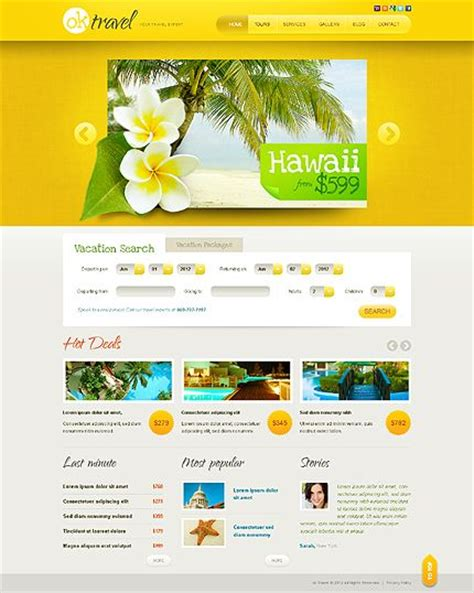 html5 jquery templates template 38907 travel agency html5 jquery website