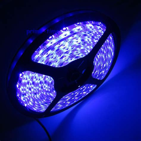 Led Uv Light Strips 5m 3528 Smd 60led M Wateproof Uv Ultraviolet Led Dc12v 395nm 405nm 300leds Led