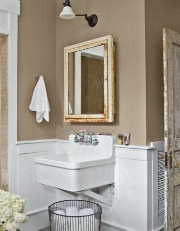 taupe walls transitional bathroom country living