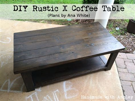 diy rustic x coffee table plans by white handmade