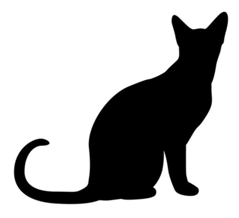 black cat silhouette template clipart best