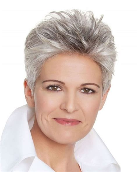 hairstyles and color for over 50 short gray hairstyles for older women over 50 gray hair