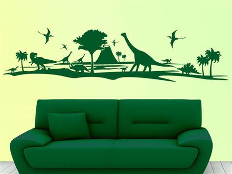 Wandtattoo Kinderzimmer Dino by Wandtattoo Urzeitlandschaft Mit Dinos Bei Homesticker De