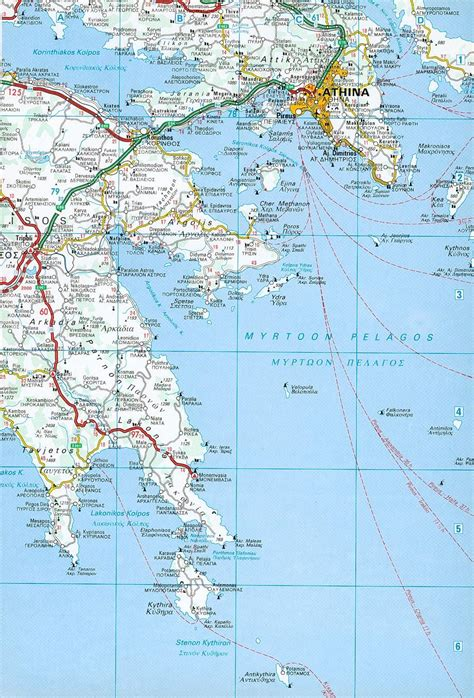 sailing maps greece map of the saronic and argolic gulfs athens